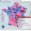 Cartographie nationale des résultats des élections législatives de 1997