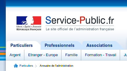 Base de données géolocalisée des administrations françaises