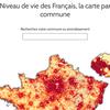 Niveau de vie des Français, la carte par commune