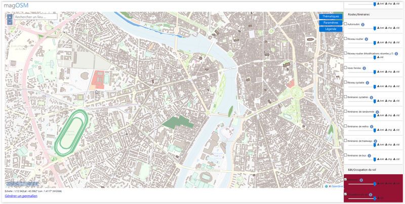 magOSM: Services de données thématiques issues d'OpenStreetMap