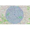 Carte qui calcule le rayon de 10 km autour de chez moi pour le confinement