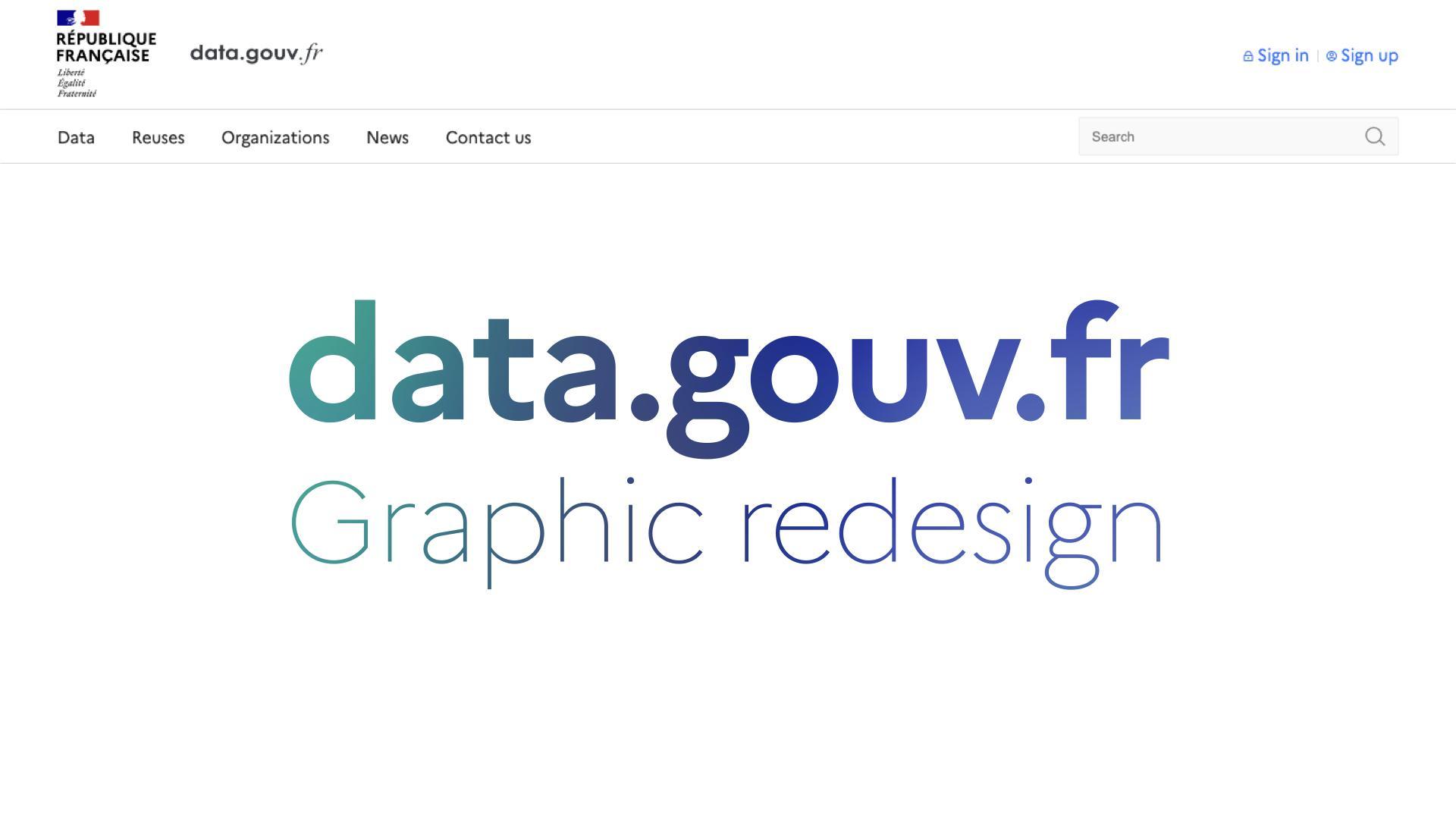 (EN) data.gouv.fr graphic redesign