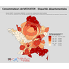 Cartogramme des consommateurs de MEDIATOR en France