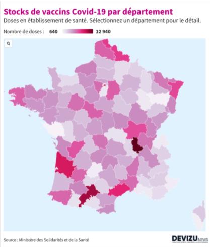 Covid-19 : les stocks de vaccins et leur répartition en France