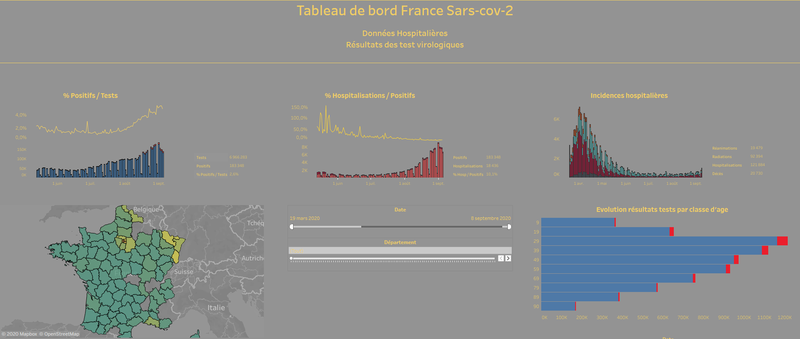 France sars cov 2 Dashboard