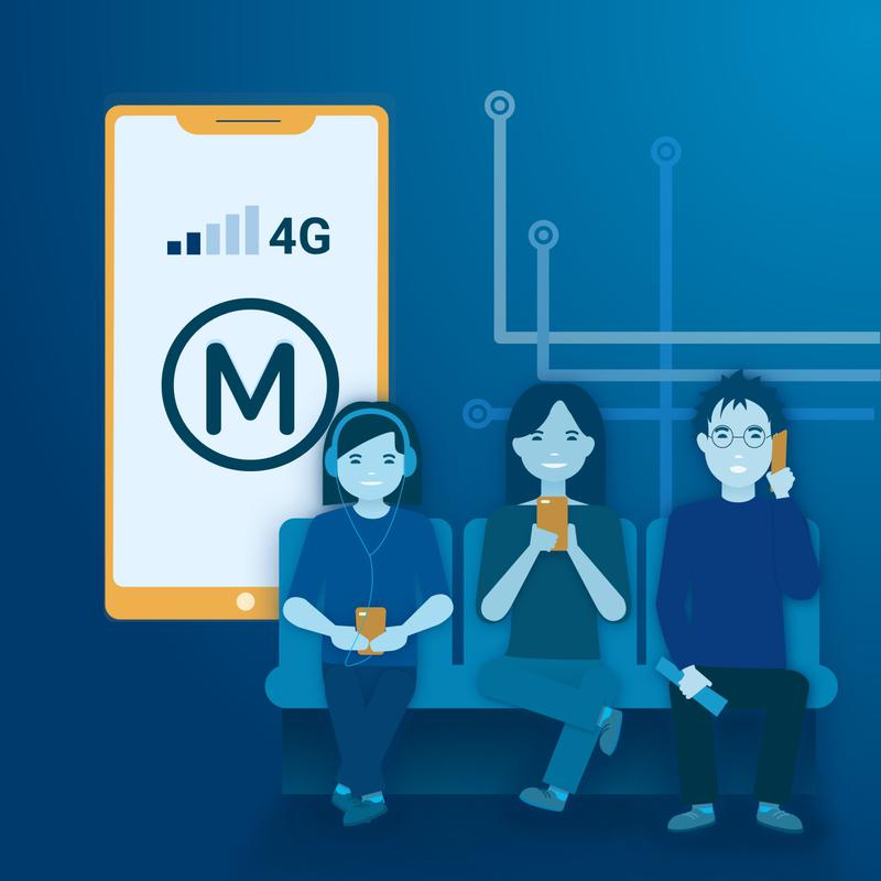 Couverture mobile des métros