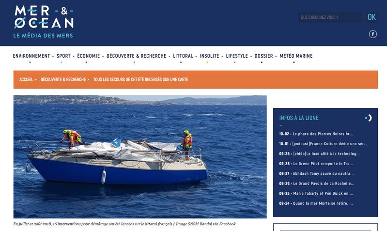 Mer et Océan : tous les secours de cet été recensés sur une carte