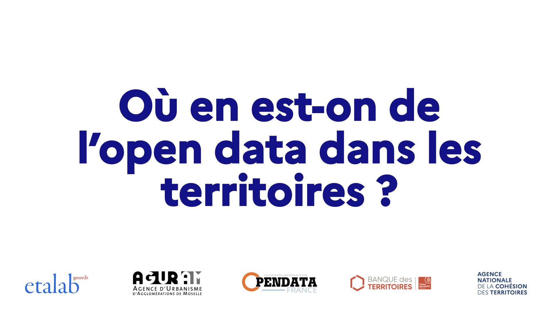 Retour sur l'évènement open data des territoires