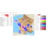 Carte interactive des résultats par communes, départements et régions