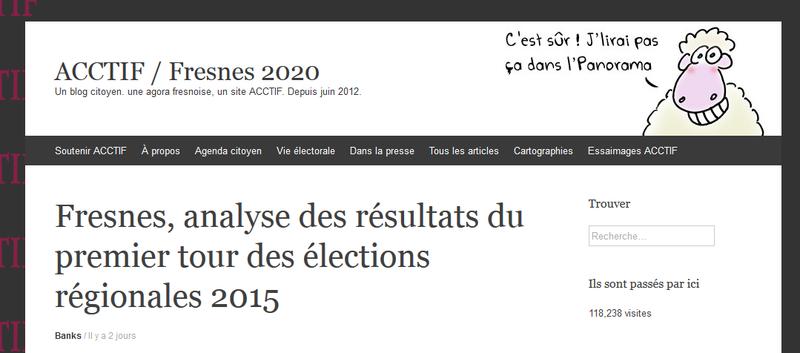 Fresnes : régionales 2015, résultats détaillés du second tour