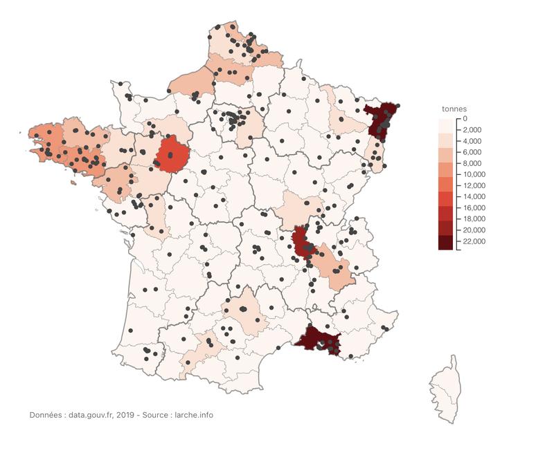 Emissions de pollution dans l'eau (indirect) (en tonnes)