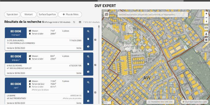Interrogez facilement les données de Valeurs Foncières grâce à DVF-Expert de Géofoncier
