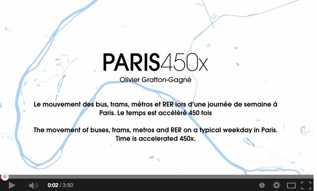 Visualisation d'une journée sur le réseau RATP en timelapse