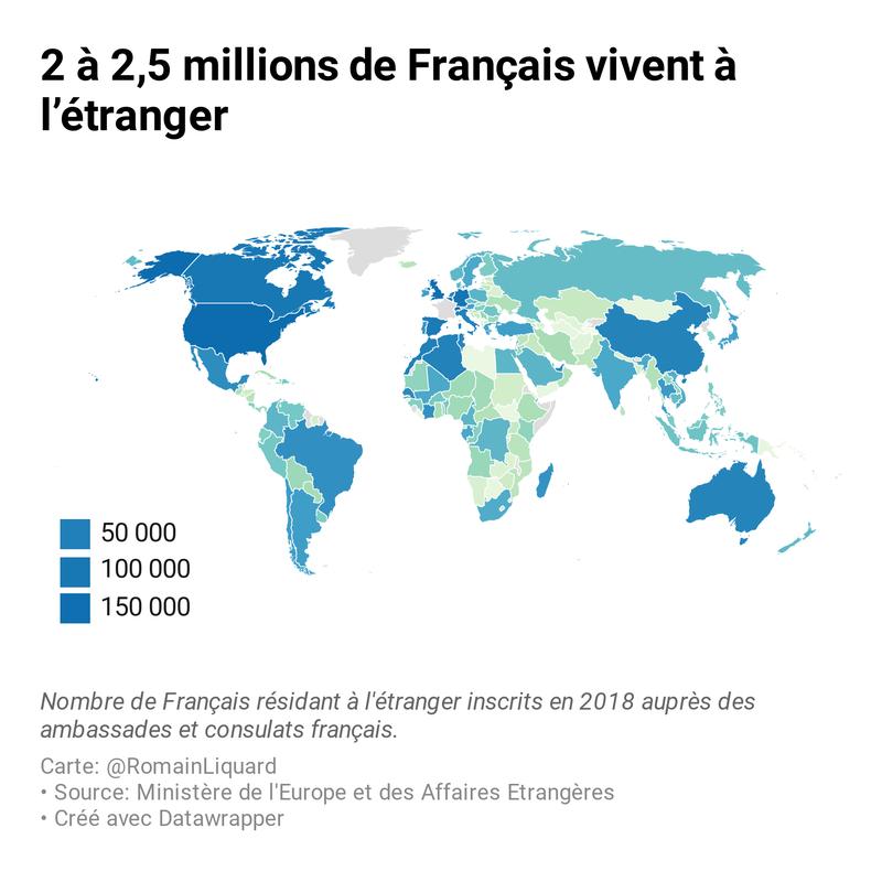 2 à 2,5 millions de Français vivent à l'étranger