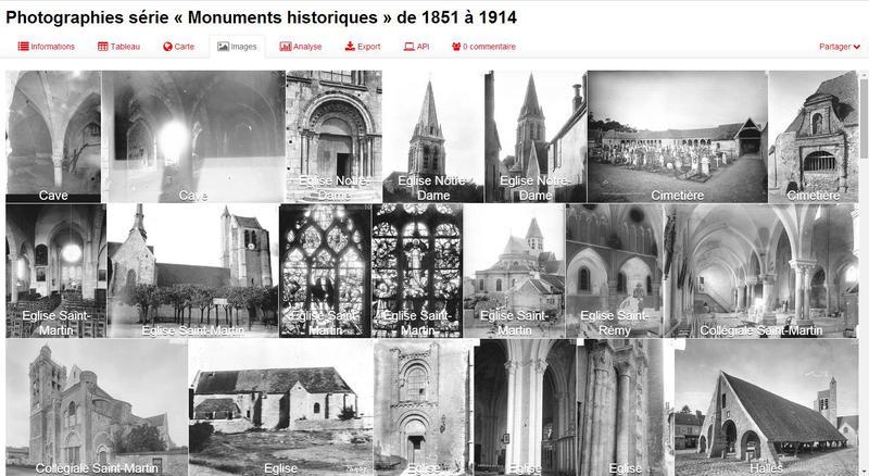 Photographies série « Monuments historiques » de 1851 à 1914 (Région Île-de-France)