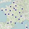 Cartographie UMap du fichier consolidé des bornes de recharge de véhicules électriques