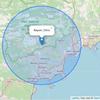 Covid 19 - Carte avec rayon de 20 Km vol d'oiseau autour de votre adresse