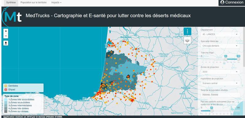 Cartographie des déserts médicaux et impact du service de santé mobile Medtrucks