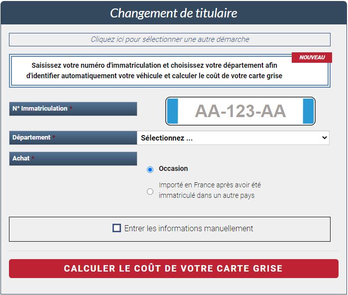 Réutilisation des données sur site Wordpress pour calcul du coût de la carte grise