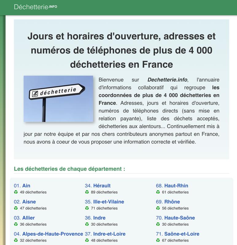 Dechetterie.info
