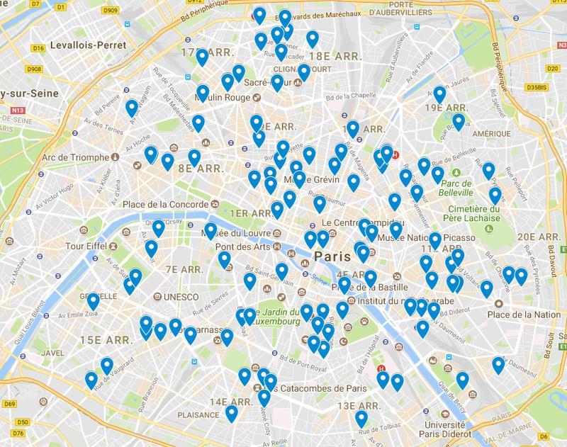 Les cafés à 1euro dans la capitale française