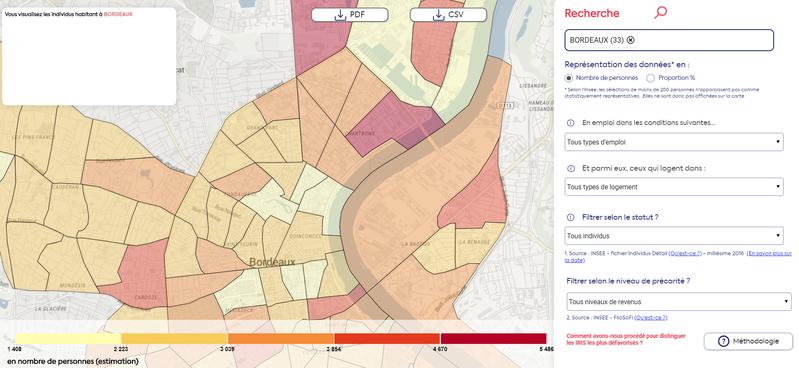 Utiliser l'open data pour appréhender la précarité économique
