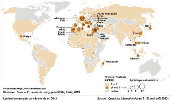 Les Instituts français dans le monde en 2013
