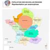Anamorphose de la population dans les nouvelles régions françaises