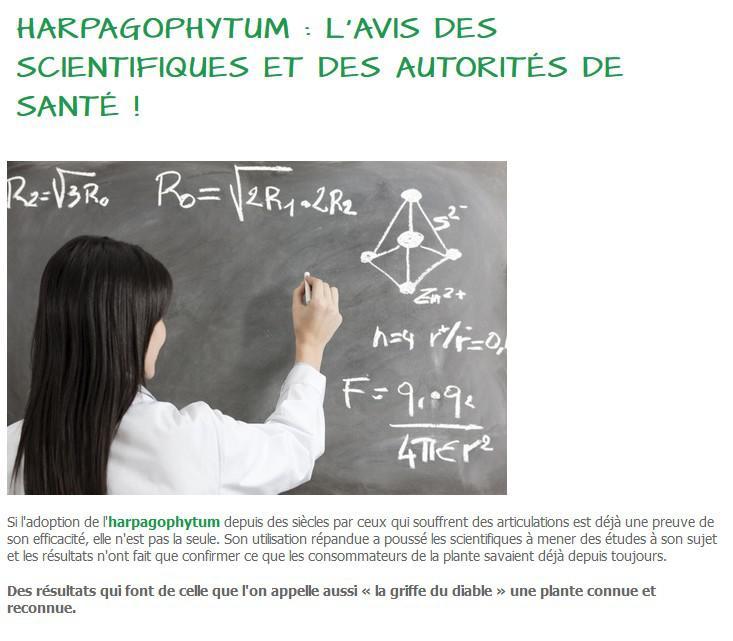 Harpagophytum : l'avis des scientifiques et des autorités de santé !