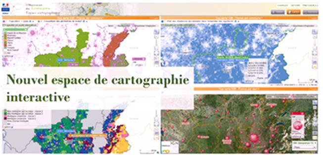 Observatoire des territoires - Carte départementale du nombre d'équipements sportifs pour 10 000 habitants