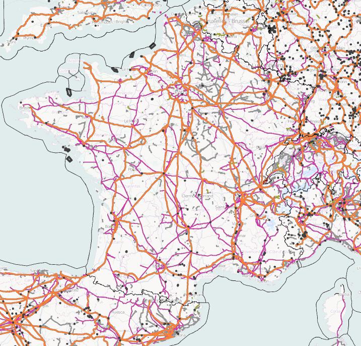 Visualisation du réseau de distribution électrique sur ITOworld
