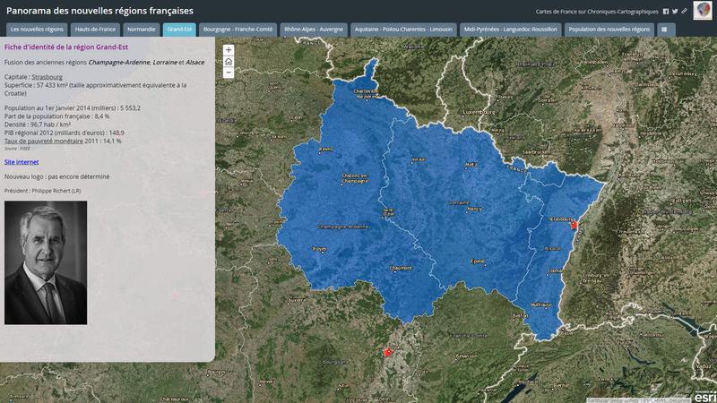 Présentation des 7 nouvelles régions françaises