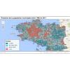 Bretagne. Evolution de la population ville par ville entre 1982 et 2011