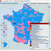 Cartographie nationale des résultats des élections législatives de 2007