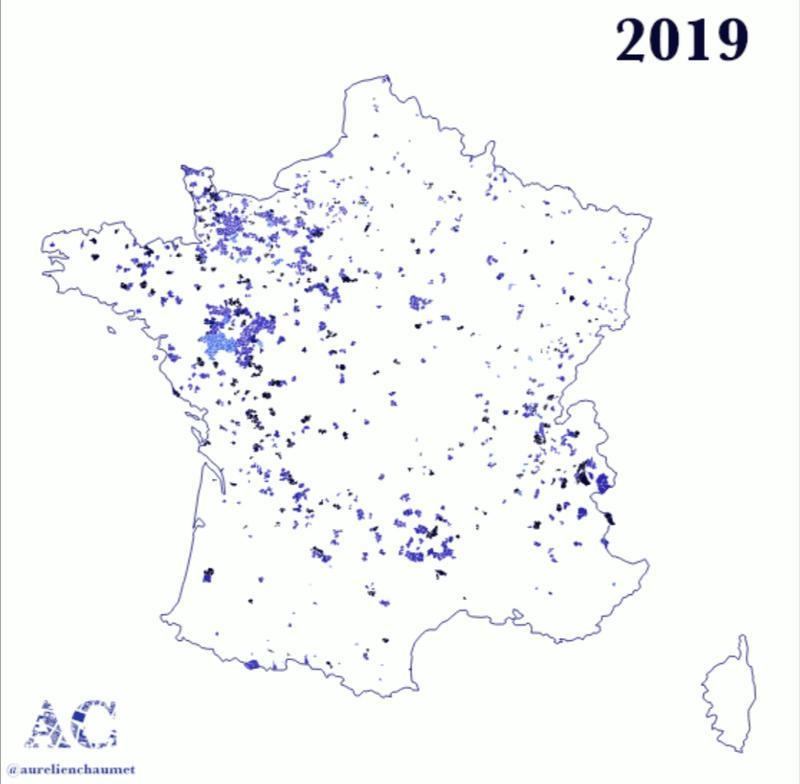 Communes disparues depuis 2015