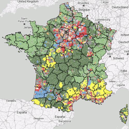 La carte interactive des types d'élevages et des régions agricoles en France