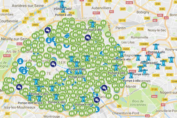 Carte des points d'eau public