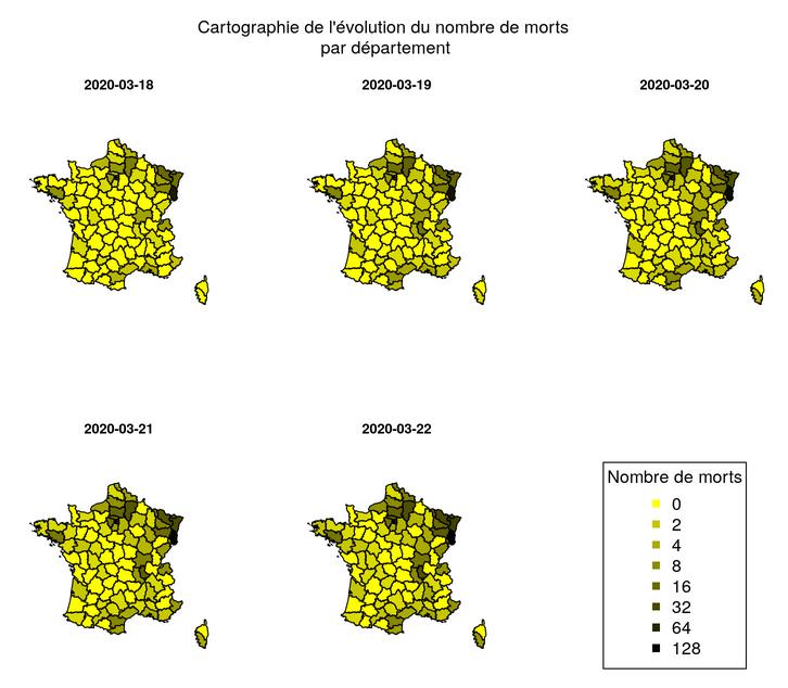 Visualisation et analyse Covid-19 Monde, France, régions françaises