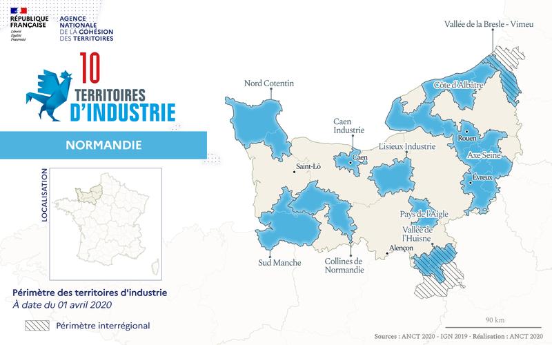 Cartographie du programme Territoires d'industrie