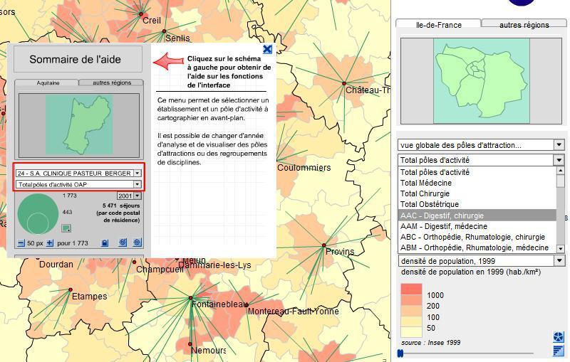 Cartographie de l'offre de soins