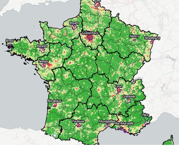 Tableau de bord cartographique des communes françaises