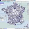 Carte de localisation des points d'accueil de la gendarmerie nationale