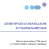 [Rapport France Stratégie] Les bénéfices d'une meilleure autonomie numérique