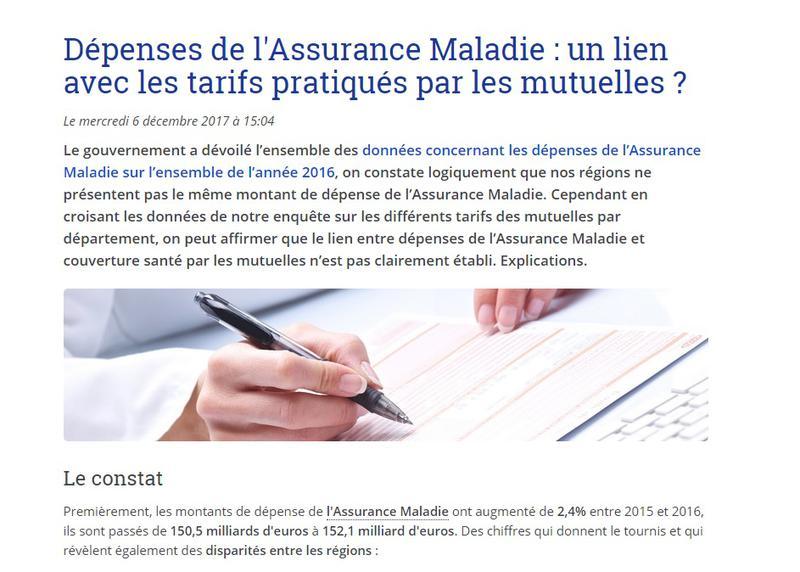 Dépenses de l'Assurance Maladie et tarifs des mutuelles