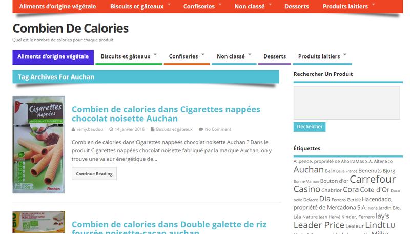 Combien de calories