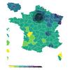Carte de l'évolution de l'épidémie en France