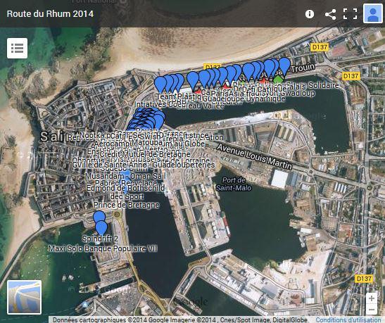 Route du Rhum : une carte interactive du port avant le départ