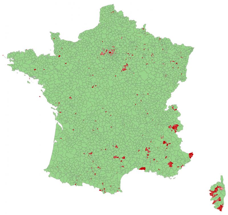 Visualisation des communes hors EPCI en 2013