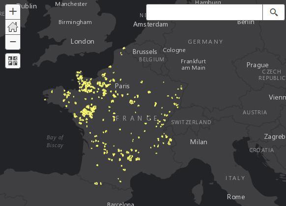 Carte interactive des nouvelles communes françaises