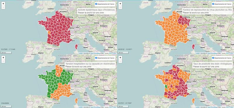 Suivi des indicateurs COVID en France Métropolitaine